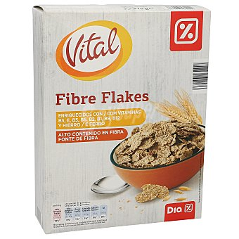DIA VITAL Cereales fibra flakes caja 375 gr Caja 375 gr
