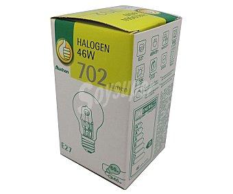 Productos Económicos Alcampo Bombilla ecohalógena esférica 46W, con casquillo E27 (grueso) y luz cálida 1 unidad