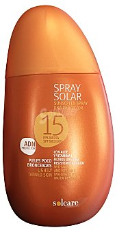 Solcare Protector solar F15 ( spray ) Botella 250 ml