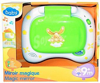 Baby Auchan Ordenador Infantil con Actividades, Sonidos y Espejo 1 Unidad