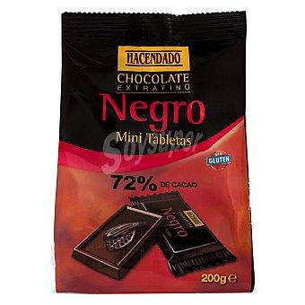 Hacendado Chocolate negro mini tabletas (72% cacao) Paquete 25 u