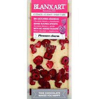 BLANXART Tableta choco blanco sin azucar & frambuesa 100 g