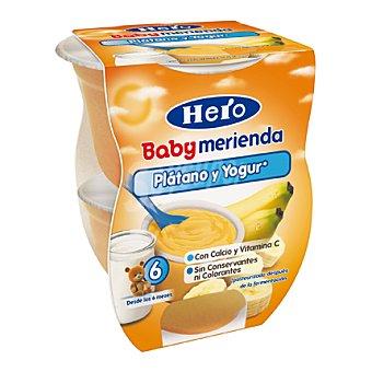 Hero Baby Tarrito de plátano y yogur Merienda Pack 2x130