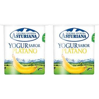 Central Lechera Asturiana Yogur sabor plátano pack 4 unds. 125 g Pack 4 unds. 125 g