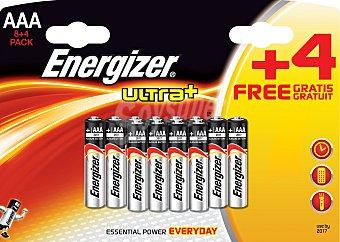 Energizer Pack pilas LR03 gratis ultra+ 8+4 UDS