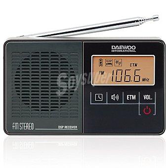 DAEWOO DRP-22 B Radio digital portátil FM en color negro
