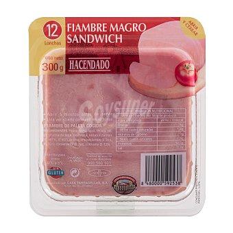 Hacendado Fiambre magro lonchas sandwich Paquete 300 g
