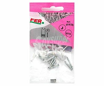 FER Cuelga Fácil Plástico con Protección 15 Unidades