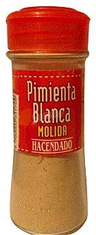 Hacendado Pimienta blanca molida (tapón rojo) Tarro de 70 g