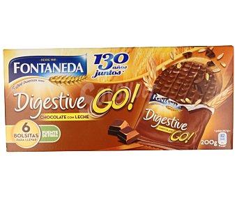 Fontaneda Galleta digestive recubierta con chocolate con leche 200 gramos