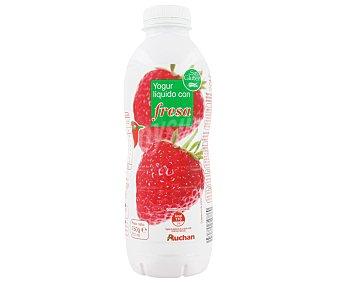 Auchan Yogur líquido con fresa Botella 750 g