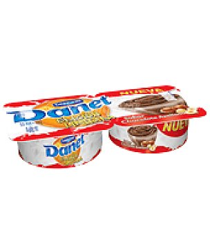 Danone - Danet Natilas de chocolate y avaellanas Danone pack de 2x125 g