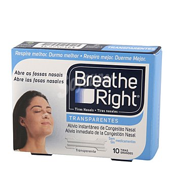 Breathe Right Tira Nasal Transparente 10 ud