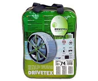 DRIVETEX Cadenas de nieve textiles, número 74 2 unidades