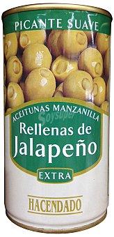 Hacendado Aceituna rellena jalapeño (picante) Lata 150 g escurrido