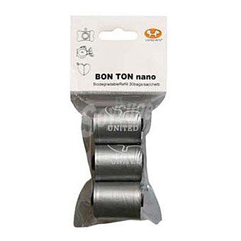 Bon ton Nano recambio de bolsas color metal Paquete 3 rollos