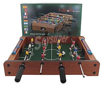 Aquamarine games Futbolín de mesa fabricado en madera, plástico y metal