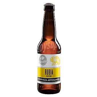 Sensation Cerveza artesana Carrefour Rubia sin filtrar Botella 33 cl