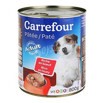 Carrefour Paté con trozos rico en buey para perros Lata de 800 g