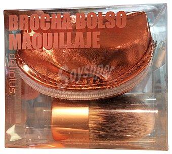 Deliplus Brocha maquillaje bolso 1 unidad