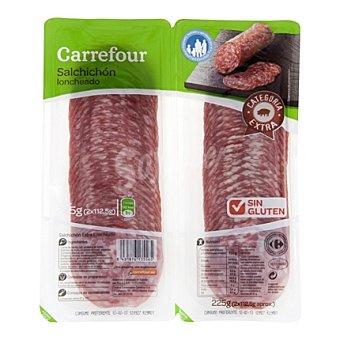 Carrefour Salchichón Extra Lonchas - Sin Gluten Pack de 2x112,5 g