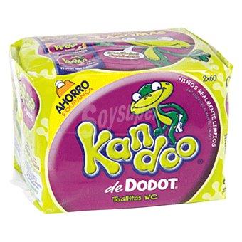 Kandoo Dodot Toallitas WC para niños de +3 años Pack de 120 unidades