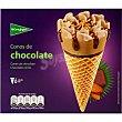 conos de helado sabor chocolate estuche 720 ml 6 unidades El Corte Inglés