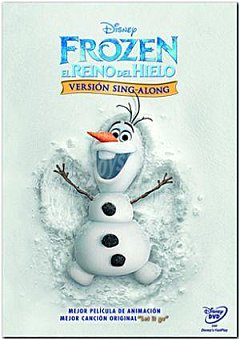 """Disney Frozen: """"sing Along"""" DVD 1 ud"""
