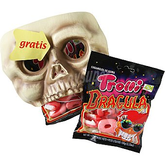Trolli Caramelos de goma Halloween dientes Drácula pack 2 bolsa 100 g con regalo de una careta Pack 2 bolsa 100 g