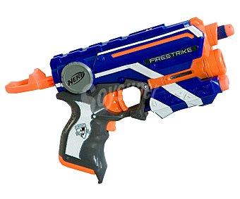 NERF Pistola lanzadora de dardos con rayo de luz para apuntar objetivos, modelo n-strike Elite Firestrike con 6 dardos 1 unidad