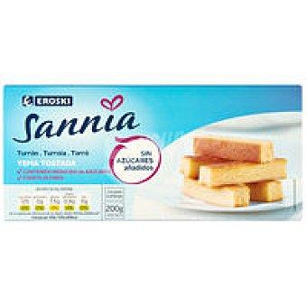 Eroski Sannia Turrón de yema tostada sin azúcar Caja 200 g