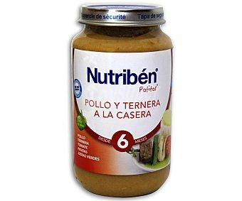 NUTRIBÉN Potito de pollo ternera casera 250 g
