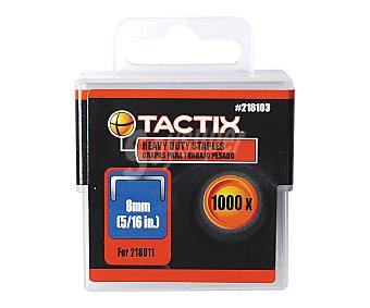 TACTIX Caja de 1000 Grapas Cuadradas Largas Medida 8 Milímetros 1 Unidad