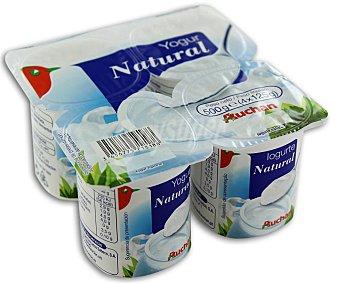 Auchan Yogur natural 4 unidades de 125 gramos
