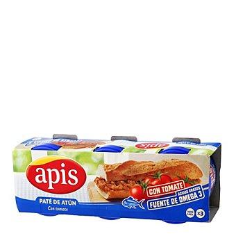 Apis Paté de atún con tomate pack de 3x80 g