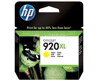 HP Cartuchos de Tinta 920XL Amarillo HP (CD974A) 1 Unidad-Compatible con Impresoras: 1 Unidad