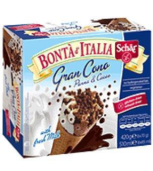 Schar Helado cono nata/chocolate ice cream 6 ud
