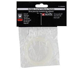MONIX Goma para cafetera expréss/italiana de 6 taza Pack de 2 Unidades