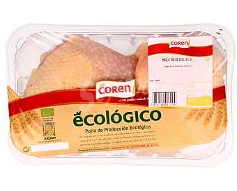 Coren Bandeja de muslos de pollo ecológicos 375 gramos aproximados
