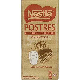 Postres Nestlé Chocolate con leche fácil de fundir Tableta 250 g