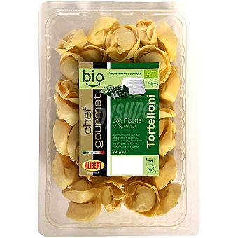 ALIBERT CHEF GOURMET BIO Tortelloni con ricotta y espinacas Envase 250 g