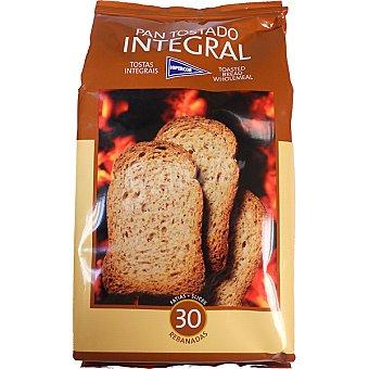 Hipercor pan tostado integral 30 rebanadas Paquete 270 g