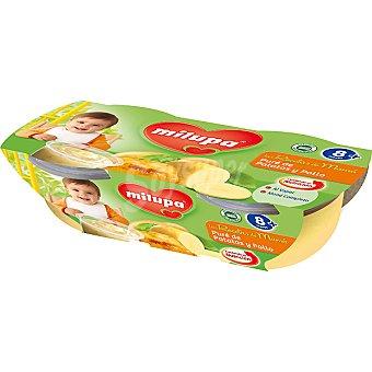 MILUPA LAS RECETAS DE MAMA Tarrito de puré de patatas y pollo pack 2x200 g estuche 400 g Pack 2x200 g