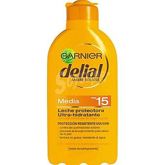 Delial Garnier Leche protectora ultra-hidratante FP-15 resistente al agua Bote 200 ml