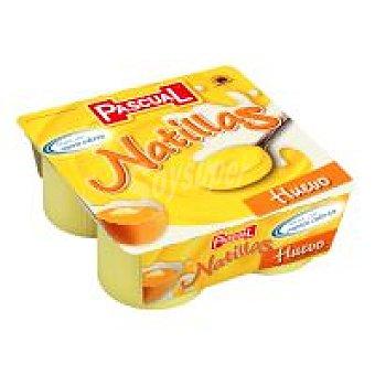 Pascual Natillas de huevo Pack 4x125 g