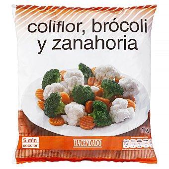 Hacendado Brocoli,coliflor y zanahoria congelado Paquete 1 kg