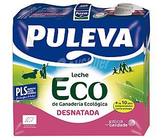 Puleva Leche desnatada ecológica Pack 6 uds. de 1 litro