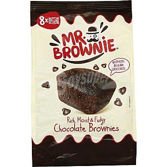 MR Brownies con chocolate belga 8 unidades envasadas invidualmente Bolsa 200 g