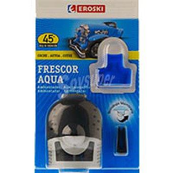 Eroski Ambientador coche frescor aqua Pack 1 unid