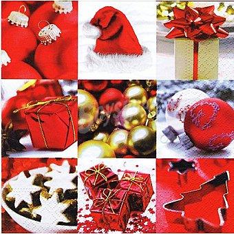 Papstar Servilletas Winter Impressions decorado adornos de Navidad Paquete 20 unidades